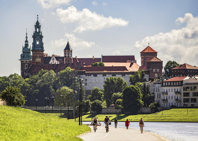 Wawel-widok z bulwaru -fot. Ela Marchewka